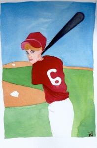 Justy Playing Baseball