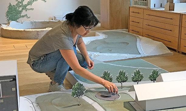Maya Lin at work